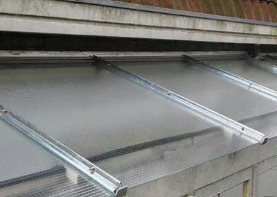 Dak overkapping draadglas